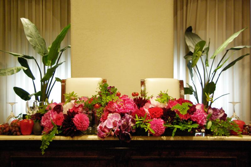 結婚式・披露宴装花 メイン装花
