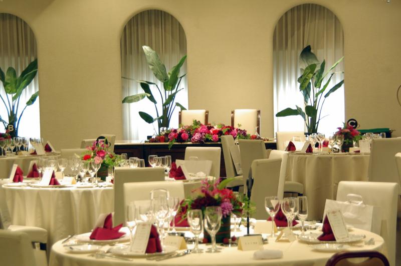 結婚式・披露宴装花 会場全景