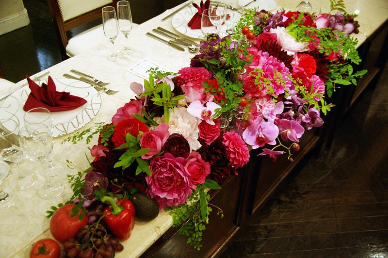 結婚式・披露宴装花 メイン装花2